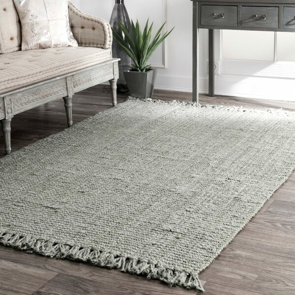 Caspian Hand-Woven Gray Area Rug by Beachcrest Home