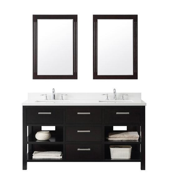 61 Double Bathroom Vanity Set by InFurniture