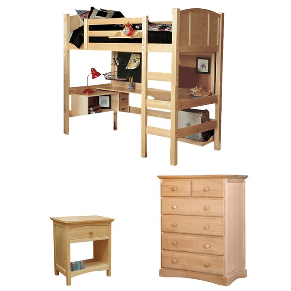 Sandisfield Twin Loft Bed Configurable Bedroom Set by Zoomie Kids