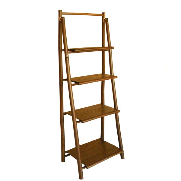 4 Tier Ladder Bookcase by ZEW Inc