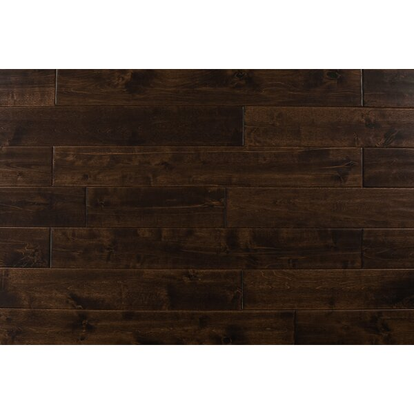 4.75 Solid Maple Hardwood Flooring in Walnut by Albero Valley