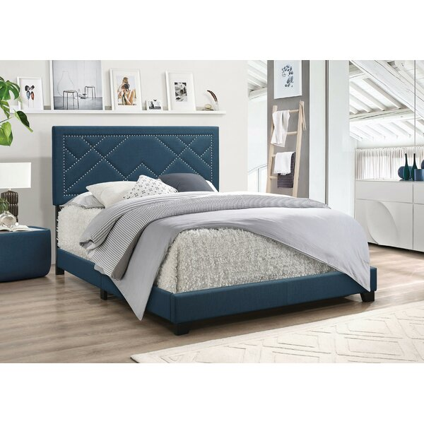 Spicer Fabric Queen Upholstered Standard Bed by Winston Porter