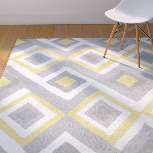 Isenhour Hand-Hooked Sunflower Area Rug by Brayden Studio