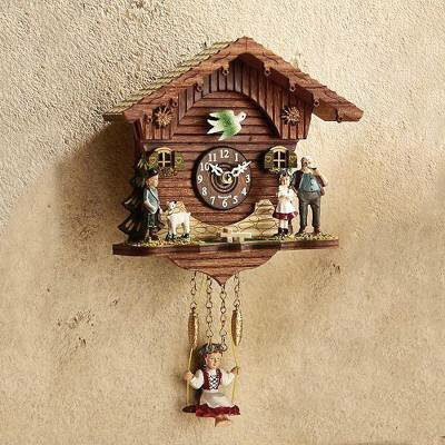 Divisadero Forest Swing Mini Cuckoo Wall Clock by World Menagerie