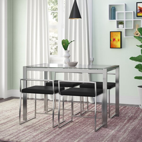 Gary 5 Piece Dining Set by Wade Logan Wade Logan