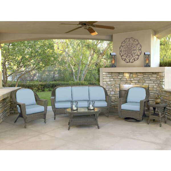 Biggs Deep Seating Group with Sunbrella Cushions by Highland Dunes