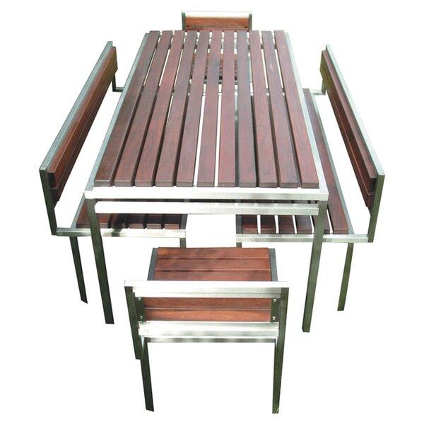 Talt Stainless Steel Garden Bench by Modern Outdoor