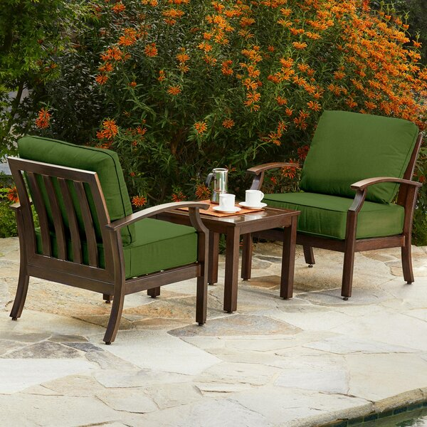 Yandel Bridgeport 3 Piece Conversation Set with Cushions by Darby Home Co