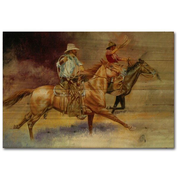 Moving Out Cowboy by Brent Flory Painting Print Plaque by WGI-GALLERY