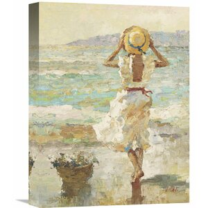'Seaside Summer I' by Vitali Painting Print on Wrapped Canvas by Global Gallery