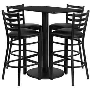 Deloris 5 Piece Pub Table Set