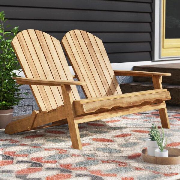 Stamm Adirondack Wooden Garden Bench by Millwood Pines Millwood Pines