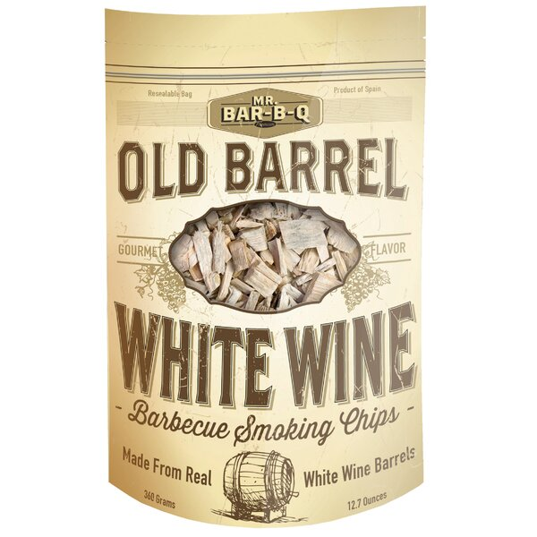 Old Barrel White Wine Barbecue Smoking Chips by Mr. Bar-B-Q
