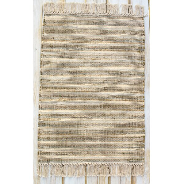 Bombay Sandshell Hand-Woven Cotton Area Rug by CLM