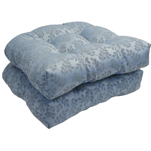Bleu Impression Indoor/Outdoor Dining Chair Cushion (Set of 2)