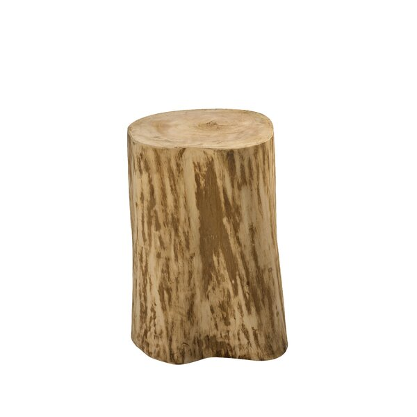 Lochhead Natural Tree Stump End Table by Union Rustic