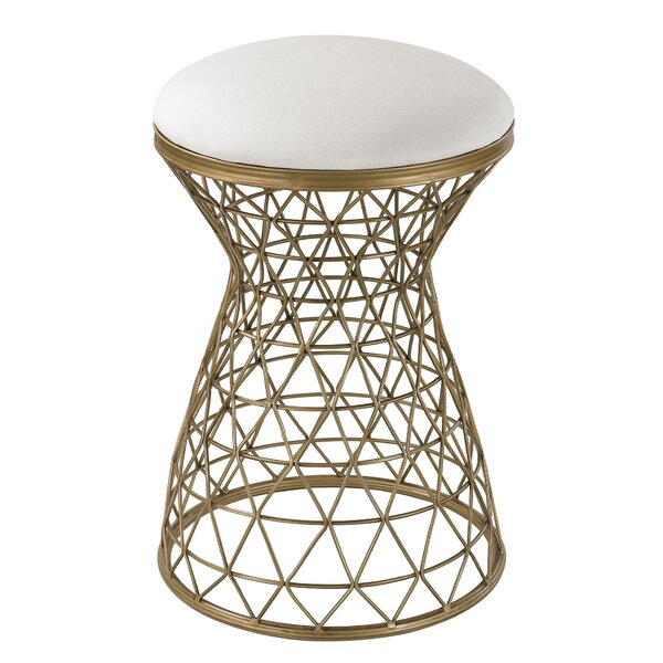 Vangorder Wire Mesh Forms Stool by Wrought Studio