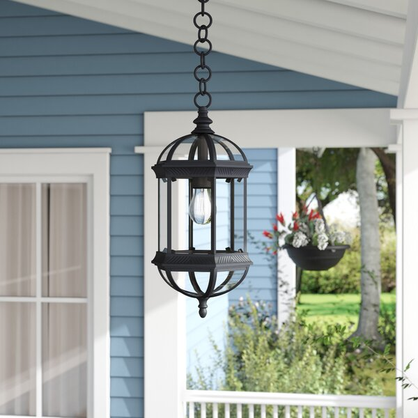 Hartshorne 1-Light Outdoor Hanging Lantern by Three Posts