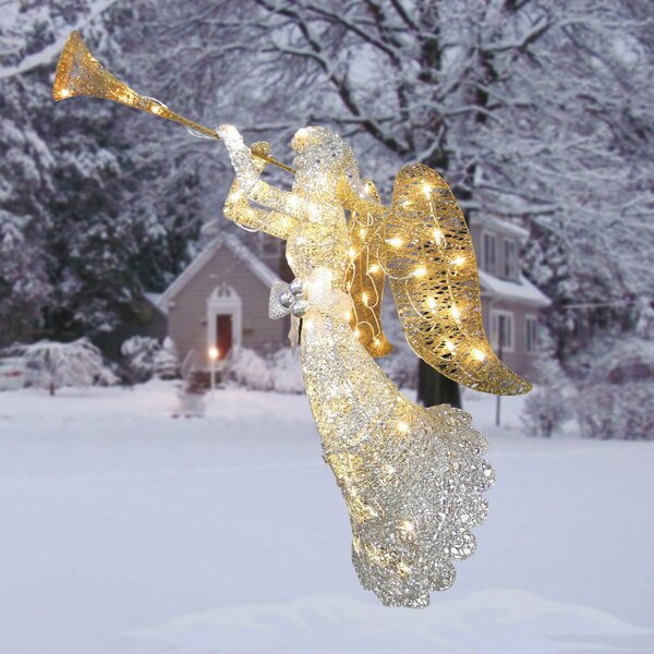 Crystal Angel Christmas Decoration by The Holiday Aisle