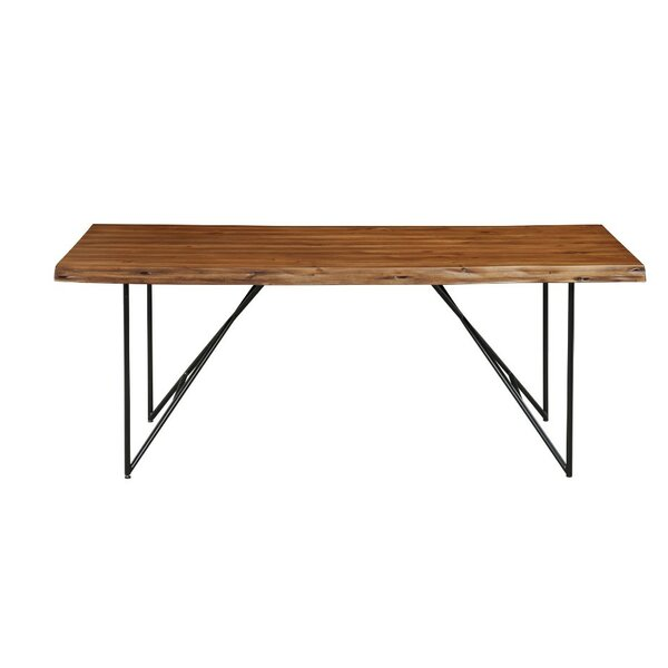 Templeman Live Edge Acacia Wood Dining Table by Union Rustic