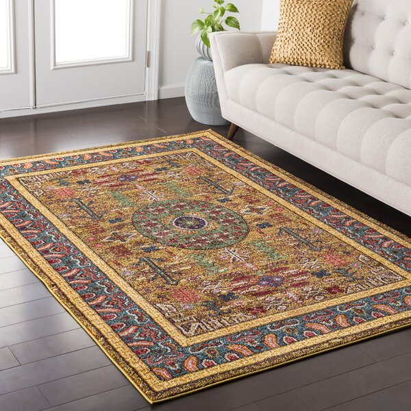 Andersonville Yellow Area Rug by Bungalow Rose