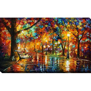 Colorful Night by Leonid Afremov Painting Print on Wrapped Canvas by Picture Perfect International