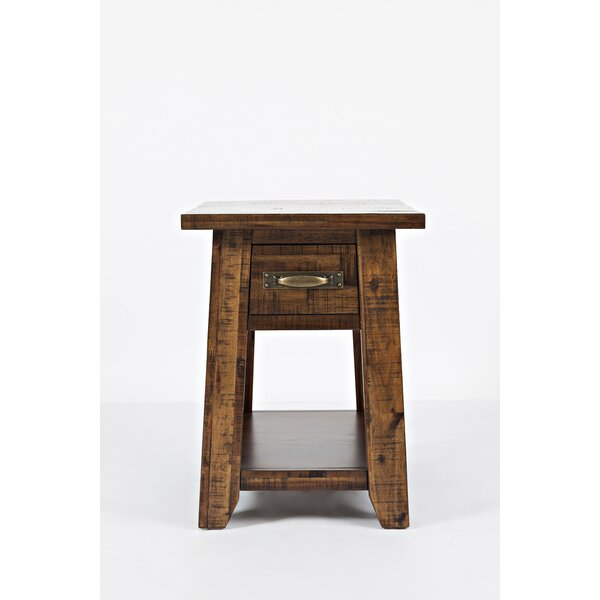 Athol Draw End Table with Storage by Three Posts Three Posts