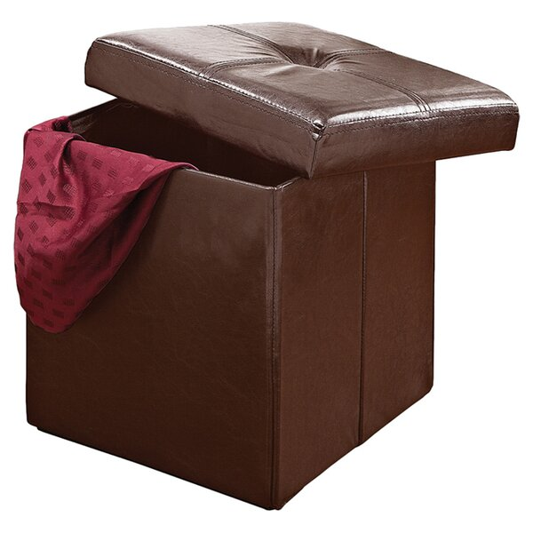 Andover Storage Ottoman in Chocolate by Kennedy International