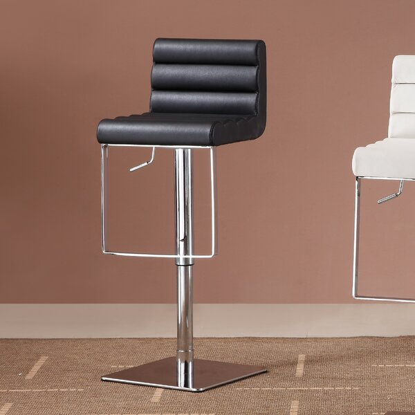 Pascal Adjustable Height Swivel Bar Stool by Orren Ellis