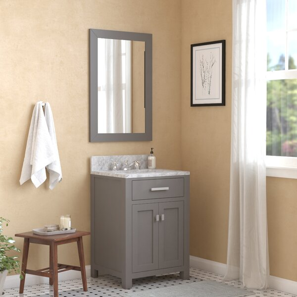 Raven 24 Single Bathroom Vanity Set with Mirror by Andover MillsRaven 24 Single Bathroom Vanity Set with Mirror by Andover Mills