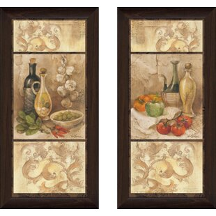 U0027Tuscan Kitchen Iu0027 2 Piece Framed Acrylic Painting Print Set