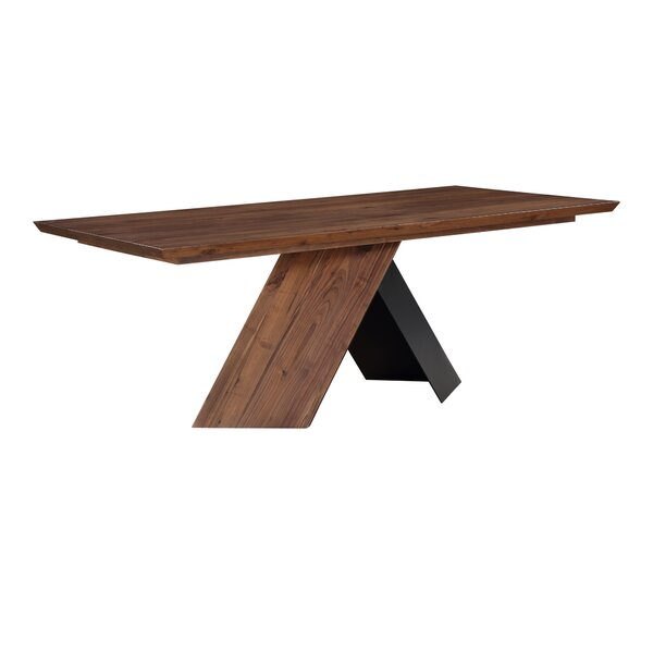 Effingham Solid Wood Dining Table by Foundry Select