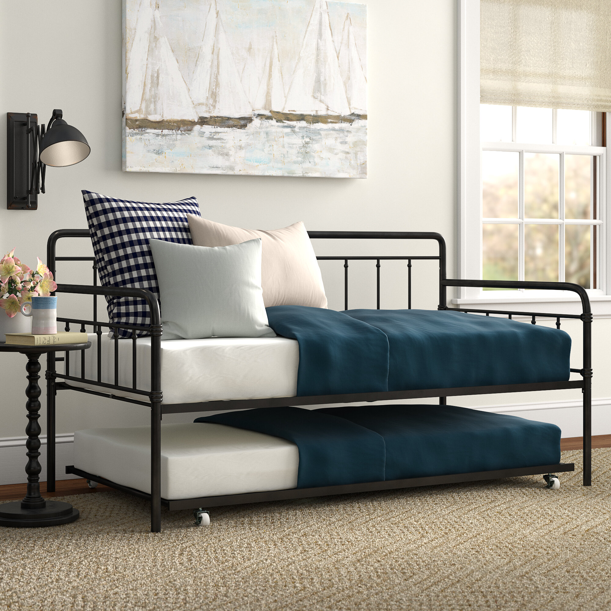 - Three Posts Minehead Daybed With Trundle & Reviews Wayfair