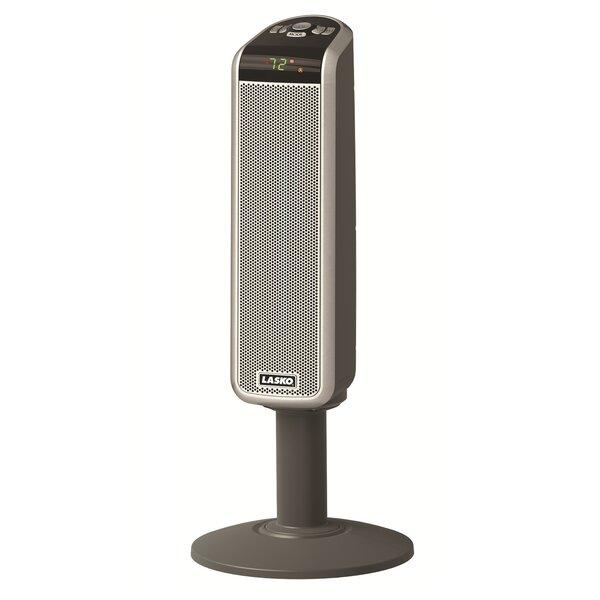 1,500 Watt Portable Electric Fan Tower Heater with Digital Remote by Lasko