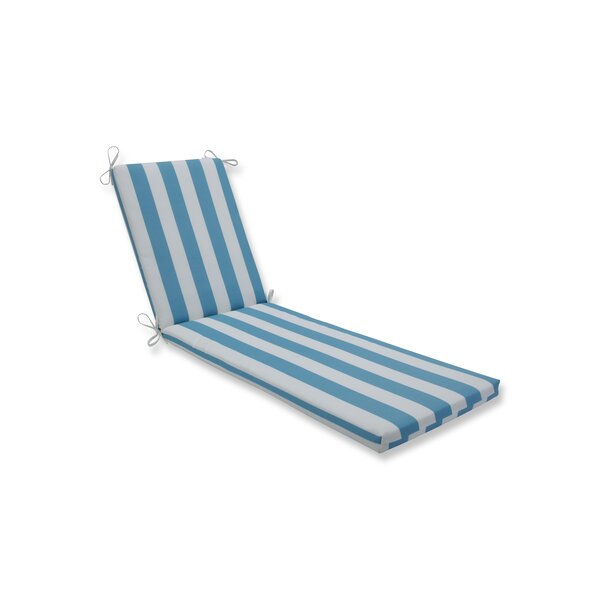 Stripe Indoor/Outdoor Chaise Lounge Cushion by Highland Dunes