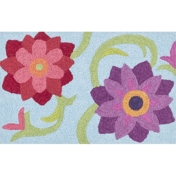 Jiles Light Blue Area Rug by Zoomie Kids