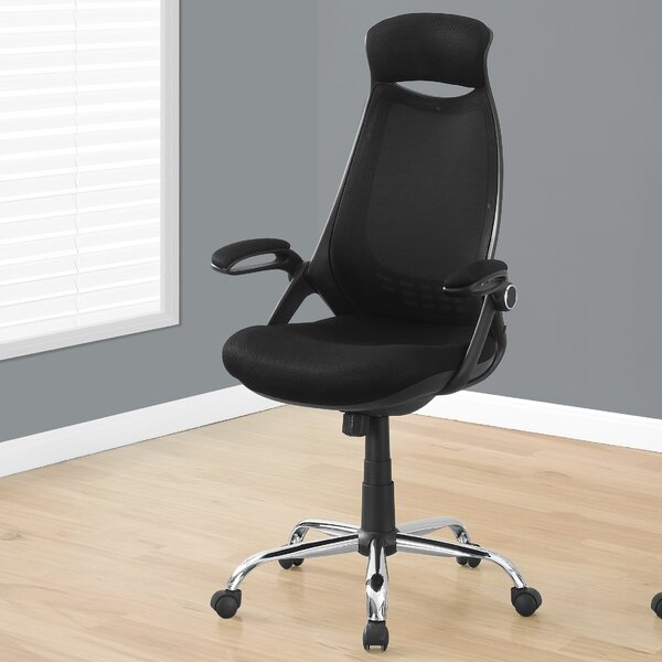 Leon High-Back Mesh Executive Chair by Monarch Specialties Inc.