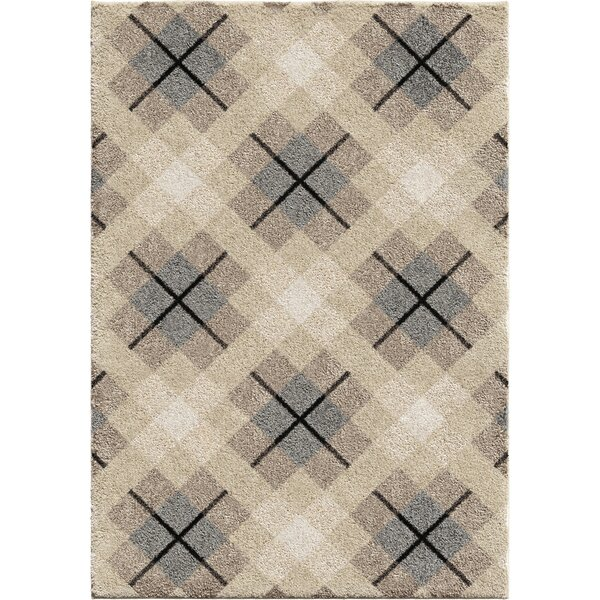 Almanzar Plush Ivory Area Rug by Foundry Select