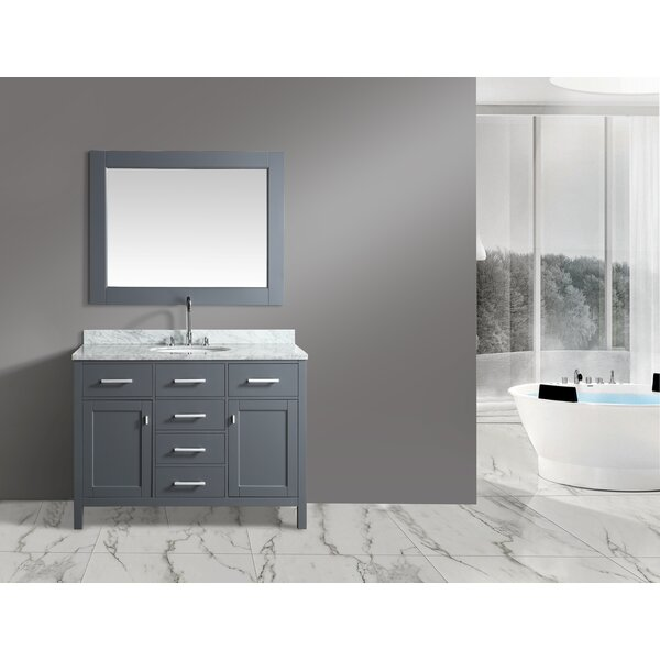 London Stanmark 48 Single Bathroom Vanity Set with Mirror by dCOR design