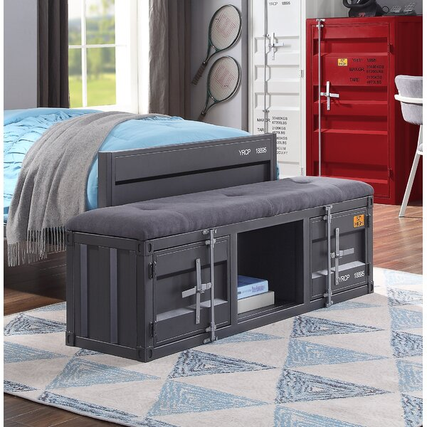 Otero Upholstered Storage Bench by Zoomie Kids Zoomie Kids