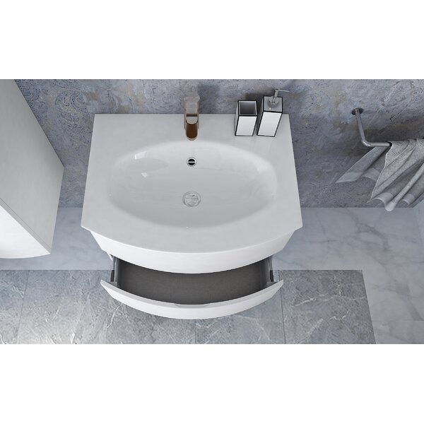 Regna Integrated U-Shaped Drop-In Bathroom Sink with Overflow