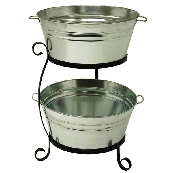 Tre Enameled Galvanized Double Beverage Tub by Cha