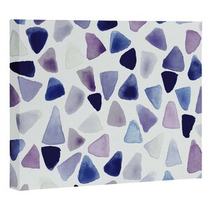 'Watercolor Triangles' Painting Print on Wrapped Canvas by East Urban Home