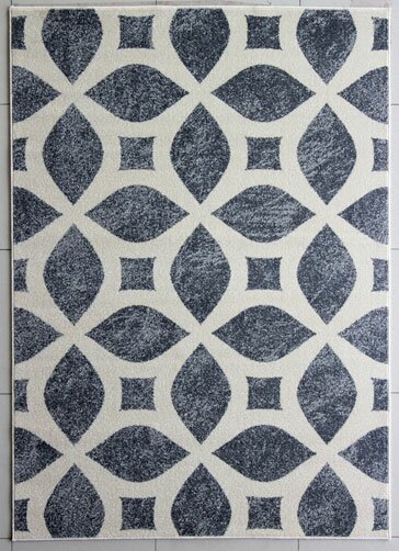 Ivory/Gray Area Rug by Rug Tycoon