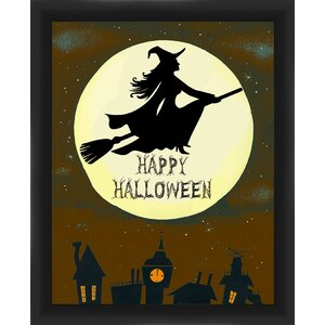 Halloween Witch Framed Graphic Art by PTM Images