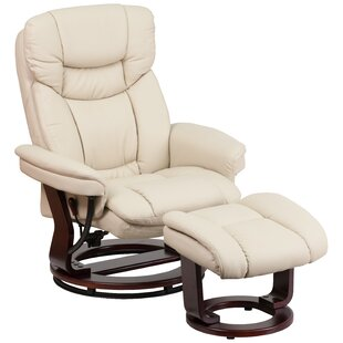 Eudy Manual Swivel Recliner with Ottoman by Latitude Run