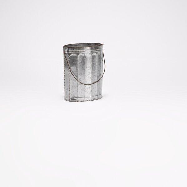 Bellamira Oval Tin Metal Pot Planter by Gracie Oaks