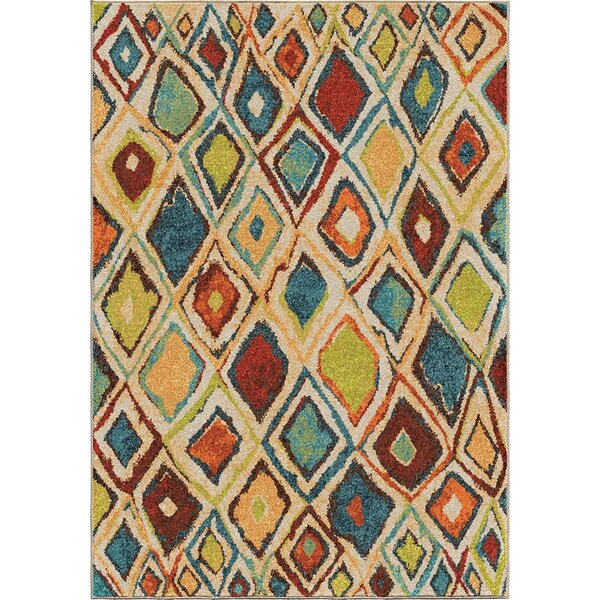Seymour Beige/Green Area Rug by Threadbind