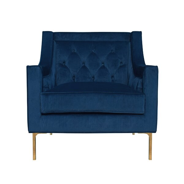 Davonte 24-inch Wingback Chair by Everly Quinn Everly Quinn