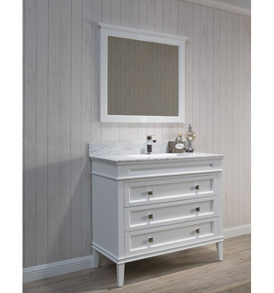 Briese 37 Single Bathroom Vanity Set with Mirror by Wrought Studio